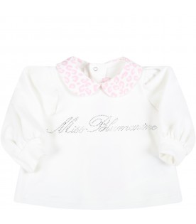 Multicolor set for baby girl with animalier print
