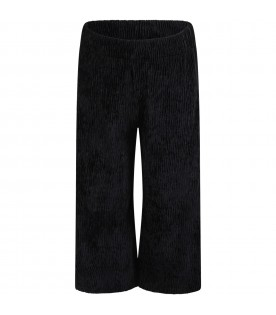"""Black """"Dana"""" trousers for girl with lurex details"""