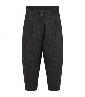 """Gray """"Dalida"""" trousers for girl"""