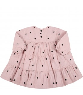 """Pink """"Clelia-Baby"""" dress for baby girl"""
