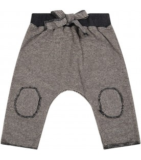 """Multicolor """"Dafne"""" trousers for baby girl with bow"""