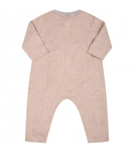 """Multicolor """"Delia-Baby"""" babygrow for baby girl with patch"""