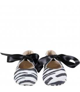 Multicolor ballet-flats for baby girl