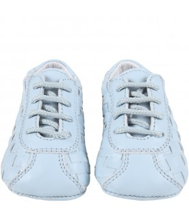Light-blue shoes for baby boy