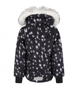 Black jacket for kids with white details