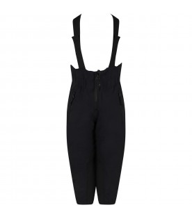 Black snow-dungarees for kids with star and logo