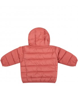 Pink jacket for baby girl with iconico patch