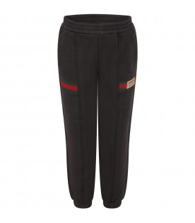Grey sweatpant for kids with logo