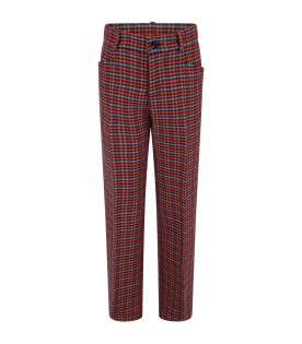 Multicolor pants for kids with logo