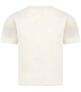 Ivory T-shirt for kids with walrus