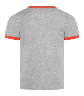 Gray T-shirt for kids with squirrels