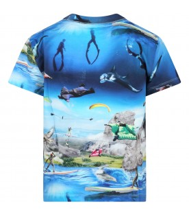 Multicolor t-shirt for boy with prints