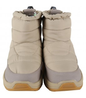 Beige boots for kids with logo