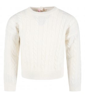 Ivory sweater for girl