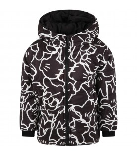 Black jacket for kids with hands Micky Mouse