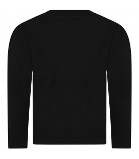Black t-shirt for boy with smile