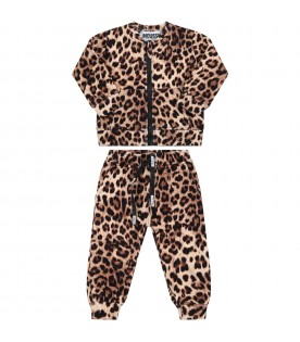 Multicolor tracksuit for baby boy with camouflage prints