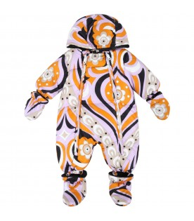 Multicolor overall for baby girl