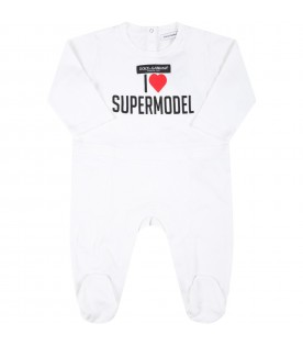 White suit for baby kids with red heart