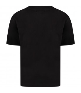 Black t-shirt for kids with heart