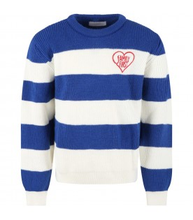 Multicolor sweater for kids with heart