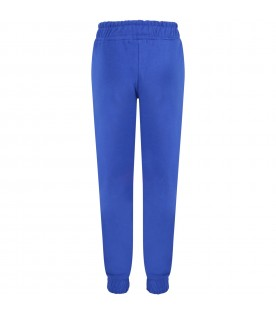 Blue sweatpant for kids with logo