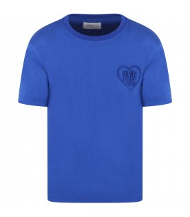 Blue t-shirt for kids with heart