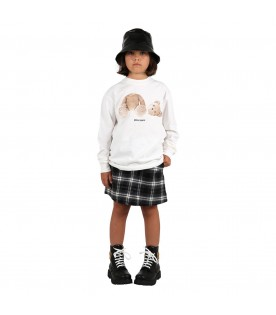 Multicolor skirt for girl with logos