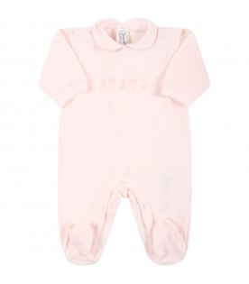 Pink babygrow for baby boy