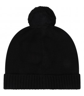 Black hat for baby kids with logo