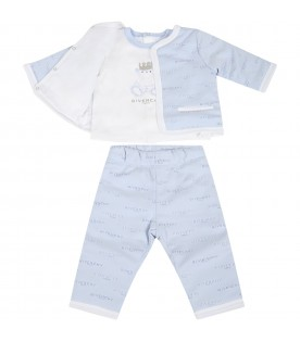 Light blue tracksuit for baby boy