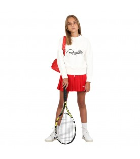 Red shorts for girl with white logo