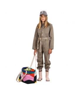 Green ''Vincent'' overall for kids