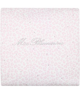 Multicolor blanket for baby girl with logo