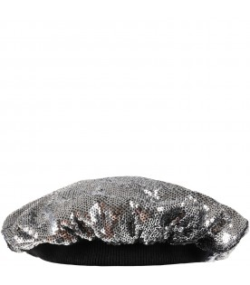 Silver beret for girl