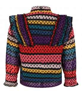 Multicolor blouse for girl with stars