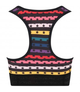 Multicolor top for girl with stars