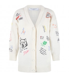 Ivory cardigan for girl