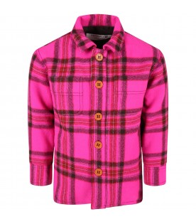 Multicolor shirt for girl with checks