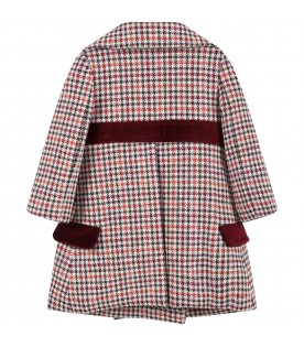 Multicolor coat for baby girl