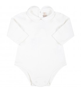 White body for baby boy with embroidery