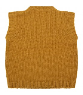 Yellow vest for baby boy