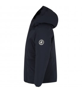 Blue jacket for boy with logo