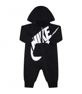 Black babygrow for baby kids with logo