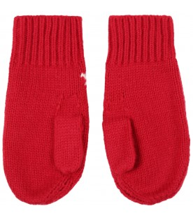 Red guants for kids with logo