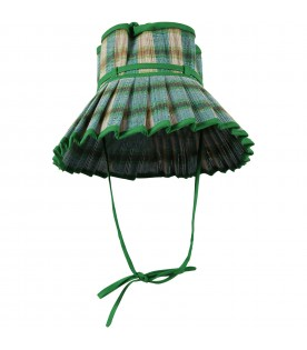 Green Capri-hat for girl with bow
