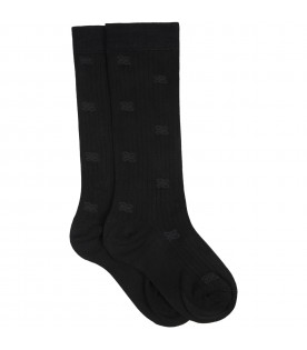 Black socks for girl with double FF
