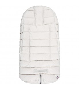 Beige sleeping bag for baby kids with logo