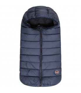 Blue sleeping bag for baby kids with logo