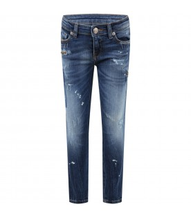 Blue jeans for girl with rips